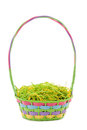 Unfilled Easter basket Royalty Free Stock Photo