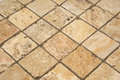 Unfilled rough travertine mosaic Stock Image