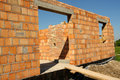 Unfinished brick house
