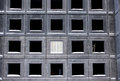 Unfinished building of reinforced concrete panels without windows Royalty Free Stock Photos
