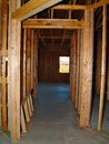 Unfinished hallway an in a house that was still under construction Royalty Free Stock Images