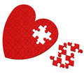 Unfinished Heart Puzzle Shows Valentine's Day Royalty Free Stock Photos