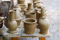 Unfinished pottery products. Royalty Free Stock Images