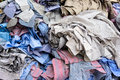 Unfinished shirts backgrounds and textures heap of textile abstract Stock Photography