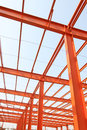 Unfinished steel structure buildings in a factory north china Royalty Free Stock Photography