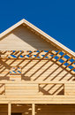 Unfinished wooden house Stock Images