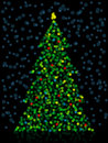 Unfocused Christmas Tree Royalty Free Stock Photography
