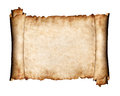 Unfolded piece of parchment antique paper background Royalty Free Stock Photo
