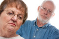 Unhappy Senior Couple in an Argument Royalty Free Stock Image