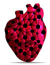 Unhealthy heart illustration concept isolated on a white background Royalty Free Stock Photography