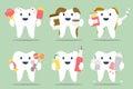 Unhealthy teeth set Royalty Free Stock Photo