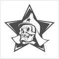 Uni soviet star and USSR skull
