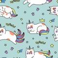 Unicorn cat pattern
