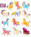 Unicorn Colored Set