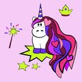 Unicorn with Crown and wand
