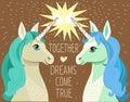 Unicorn Face. Cartoon Vector. Motivation Card With Stars.