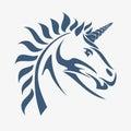 Unicorn head Stock Image