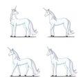 Unicorn Isolated on White Background