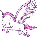 Unicorn Pegasus Vector Illustration Stock Photo