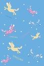 Unicorn Pegasus Vector Illustration Royalty Free Stock Photo