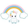 Unicorn and a rainbow.