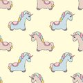 Unicorn. Vector seamless pattern with unicorns. Colorful cute design for the design and design of children`s textiles