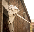Unicorn venice symbol on a wall in italy Stock Image