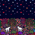 Unicorns in the magic forest.
