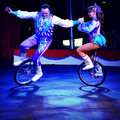 Unicycling Performers Royalty Free Stock Photo