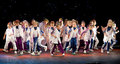 Unidentified children from dancing group Belka Royalty Free Stock Photography