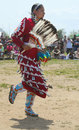 Unidentified female Native American dancer at the NYC Pow Wow in Brooklyn Royalty Free Stock Photo
