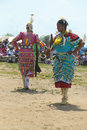Unidentified female native american dancers at the nyc pow wow in brooklyn new york june on june a is a gathering Royalty Free Stock Photography