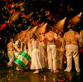 Unidentified group of musicians finishing their concert in paris france march at the bataclan for annual capoeira Royalty Free Stock Photography