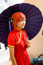 An unidentified Japanese anime cosplay. Stock Photos