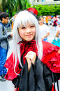 An unidentified japanese anime cosplay pose bangkok may in oishi world fantastic on may at central world bangkok thailand Royalty Free Stock Image
