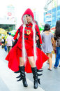 An unidentified japanese anime cosplay pose bangkok may in oishi world fantastic on may at central world bangkok thailand Stock Image