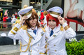 Unidentified japanese anime cosplay pose in japan festa in bangkok september on september at central word thailand Royalty Free Stock Photo