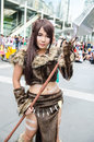 Unidentified japanese anime cosplay pose in japan festa in bangkok september on september at central word thailand Royalty Free Stock Photography