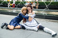 An unidentified japanese anime cosplay pose in japan festa in bangkok september on september at central world Stock Photo