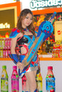 An unidentified japanese anime cosplay pose in thailand game show big festival bangkok oct on october at siam paragon bangkok Royalty Free Stock Photography