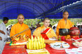 Unidentified monk of taoism cult ceremony preparation at rayong vegetarian festival thailand september on september in Stock Photography