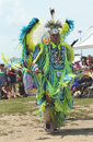 Unidentified native american dancer at the nyc pow wow brooklyn new york june in brooklyn on june a is a gathering and Stock Image