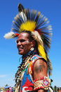 Unidentified native american dancer at the nyc pow wow in brooklyn new york june on june a is a gathering and heritage Royalty Free Stock Photography