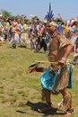 Unidentified native american dancer at the nyc pow wow in brooklyn new york june on june a is a gathering and heritage Royalty Free Stock Images
