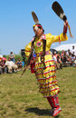Unidentified Native American dancer at the NYC Pow Wow in Brooklyn Royalty Free Stock Photo