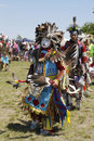 Unidentified native american dancer at the nyc pow wow new york june in brooklyn a is a gathering and heritage celebration Royalty Free Stock Images