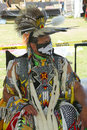 Unidentified native american at the nyc pow wow in brooklyn new york june on june a is a gathering and heritage Stock Photo