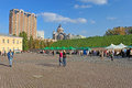 Unidentified people in Kyiv Pechersk Fortress Royalty Free Stock Photo
