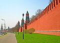Unidentified people near kremlin wall in the early morning moscow russia one of most symbolic constructions s Stock Image