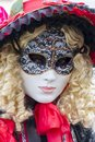 Unidentified person with traditional venetian carnival mask in venice italy at february at it is held from january th to february Stock Images